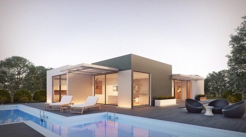 dům s plochou střechou