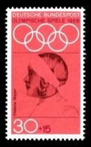 Helene Mayerová na známce z roku 1968