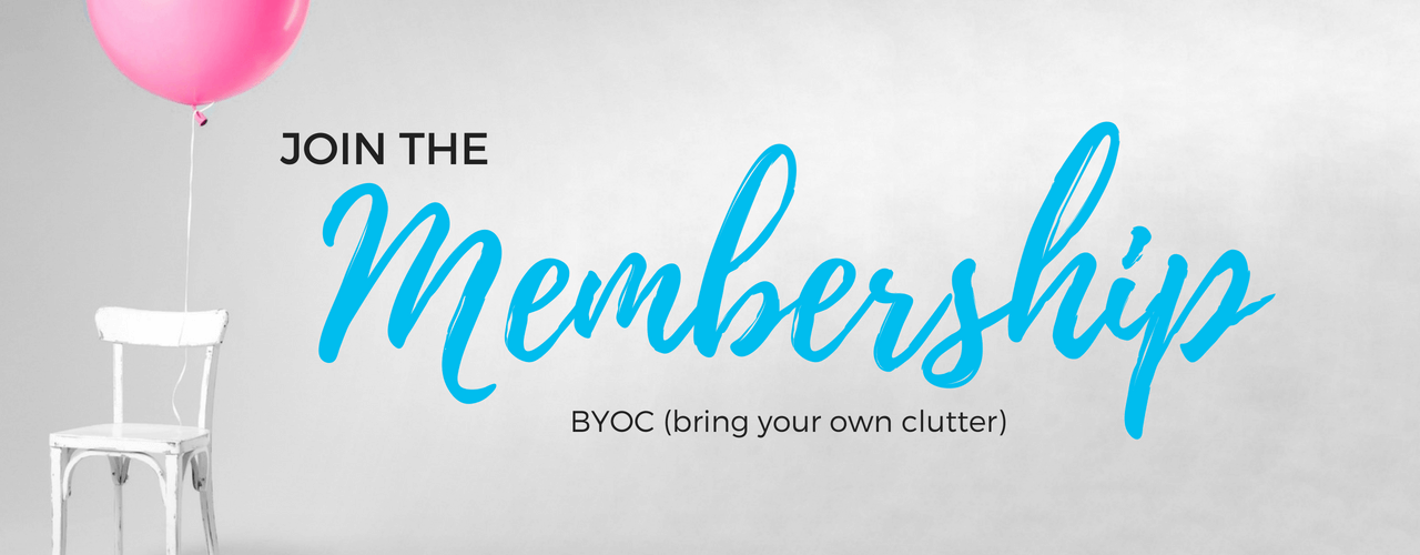 byoc party, clutter, declutter, organize, bring your own clutter, party, declutter coach