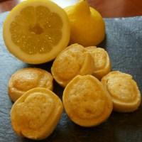 Pastas de limón con cabello de ángel