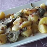 Patatas con alcachofas