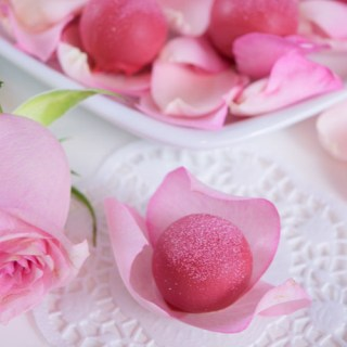 Beautiful rose water truffles