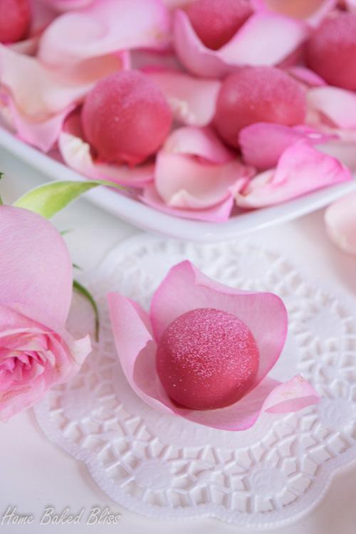 Beautiful rose water truffles