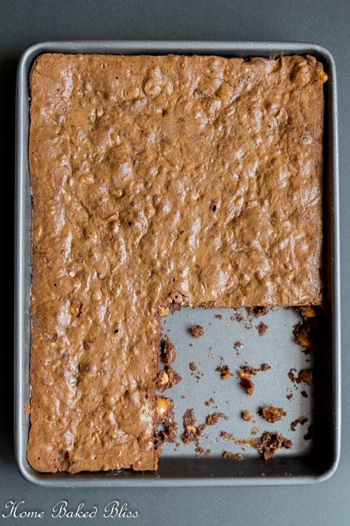 Brownies in the pan!
