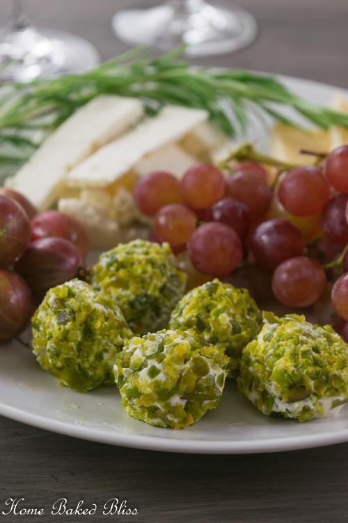 Cream Cheese and Pistachio Bites