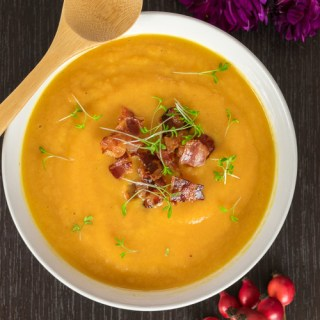 Sweet Potato Carrot Leek Soup