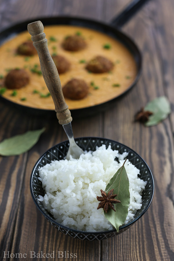 falafel, garam masala sauce, rice, garam masala, Indian food, Indian recipe, fusion food, fusion recipe