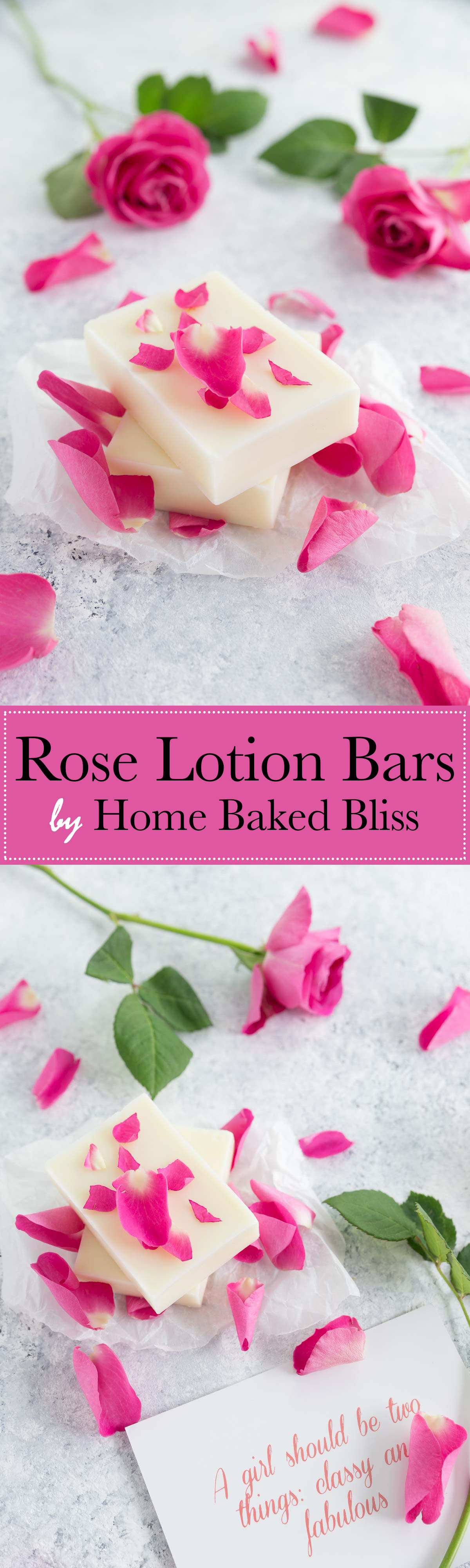 Rose Lotion Bars
