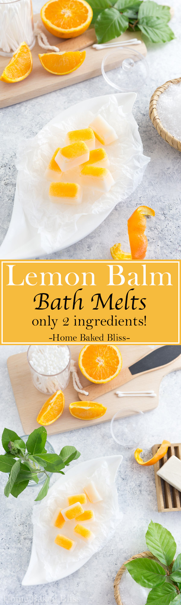 These colourful coconut bath melts infused with lemon balm bath oil are incredibly fragrant and relaxing. An instant bath upgrade!