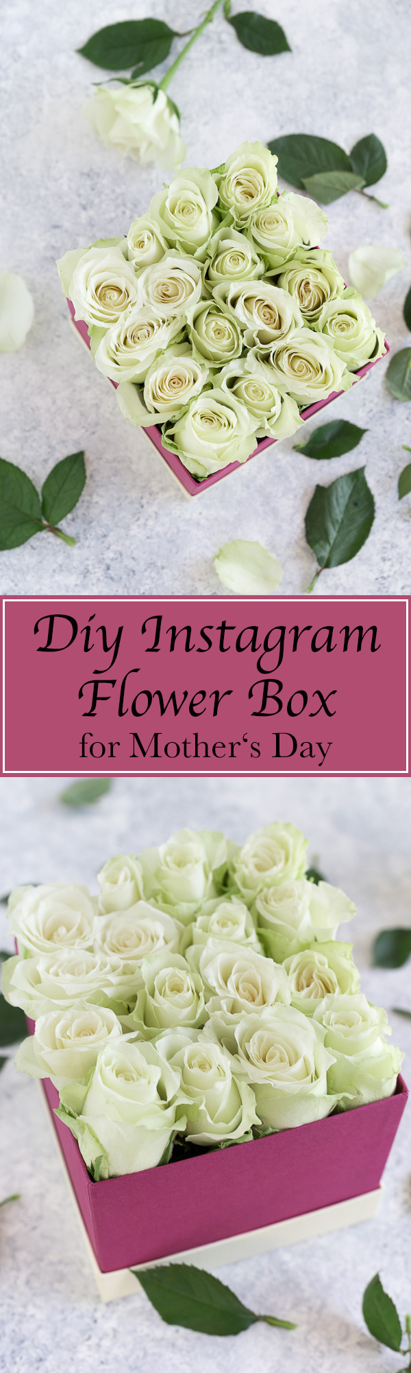 diy flower box, diy Instagram flower box, Instagram flower box, how to make a flower box, diy rose box, rose box, flower diy, flower craft