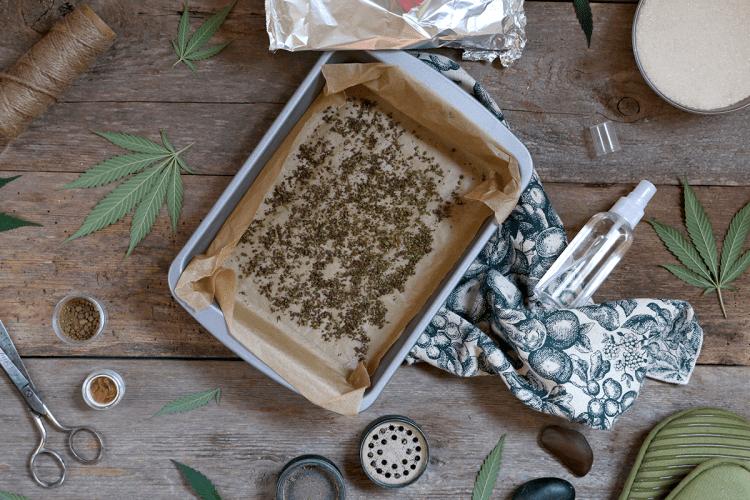 Spray Baked Cannabis With Everclear