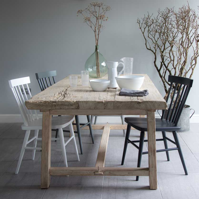 Reclaimed Elm Trestle Dining Table Home Barn