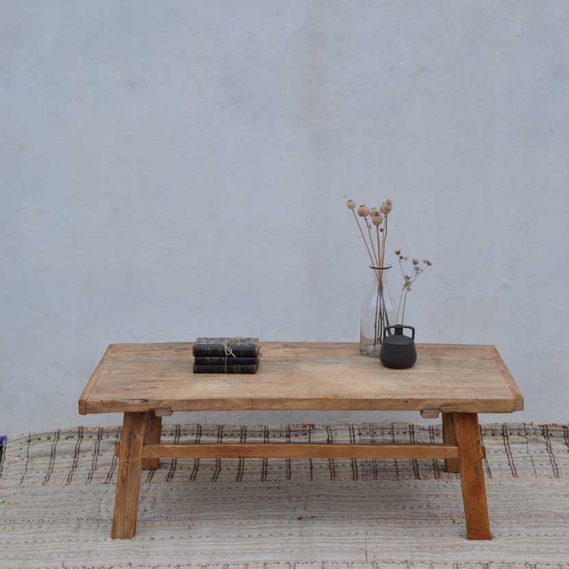 reclaimed wood coffee table elm
