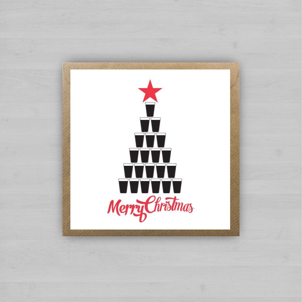 Guinness Christmas Tree Irish Christmas Cards By Homebirdie