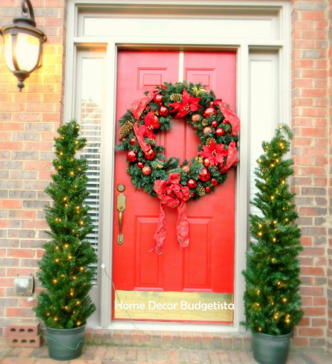 Doors Double Front Door Christmas Decorating Ideas Design With Rustic Modern Decorations And Pinterest Home