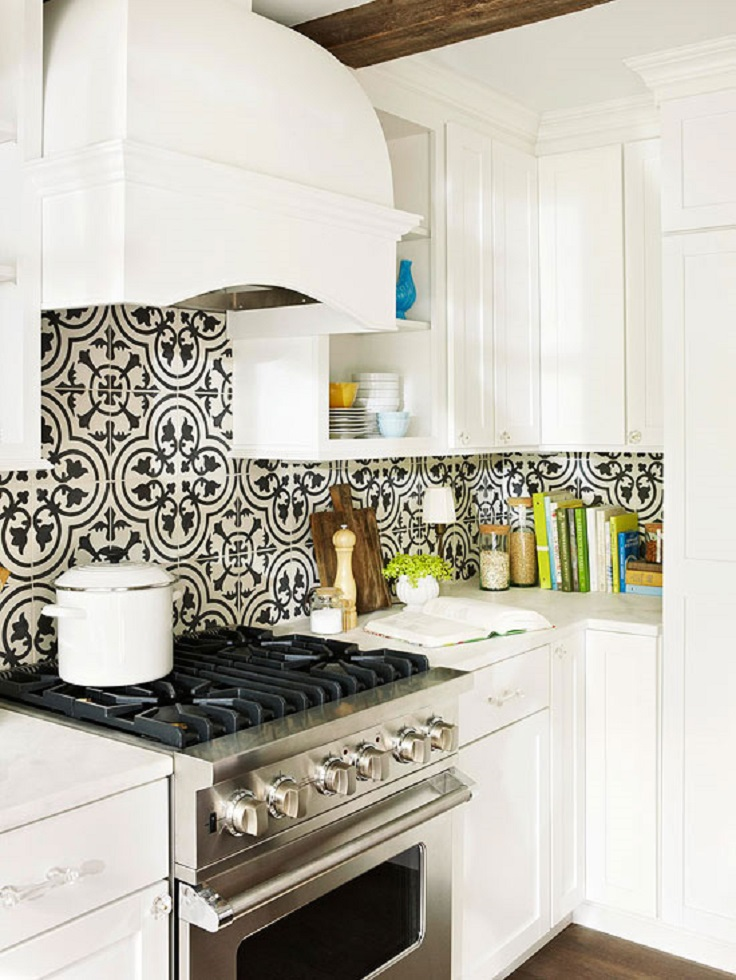 White Kitchen Backsplash Tile