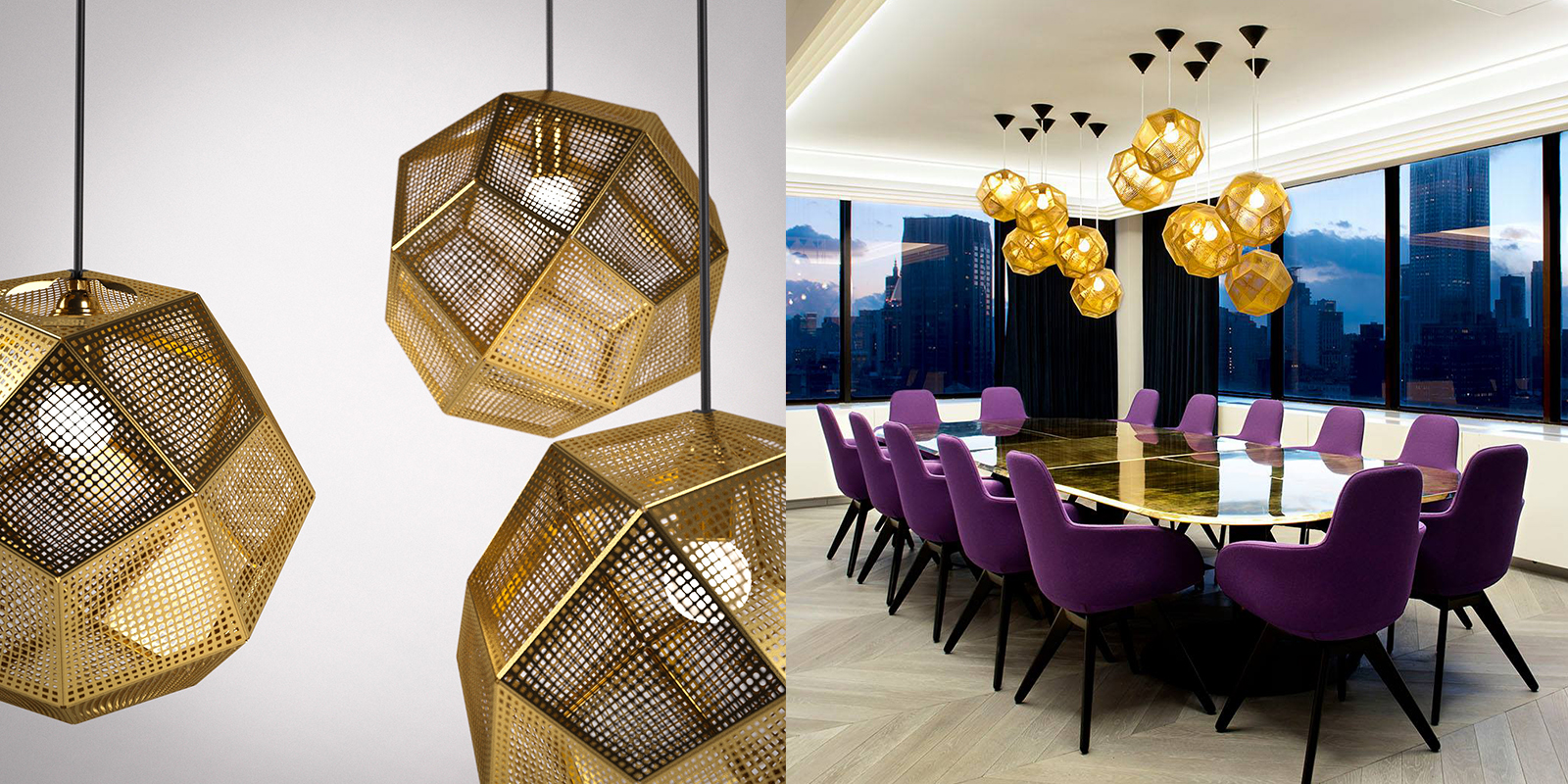 Thinking Lights Gold Geometric Space Ball Chandelier Homebnc