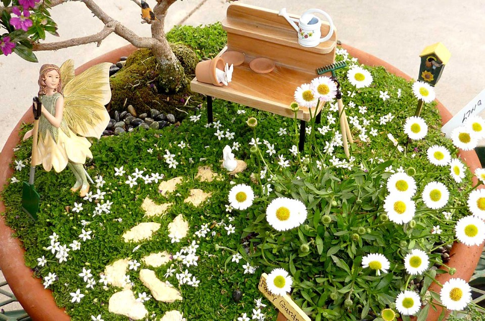 Fairy Garden Ideas: Spring time blossoms Fairy garden ideas