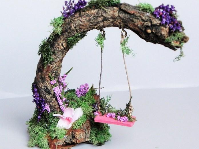 fairy Garden Ideas: Swing high swing low miniature garden ideas