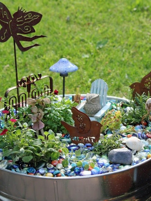 Fairy Garden Ideas: In the cool of the day miniature garden ideas