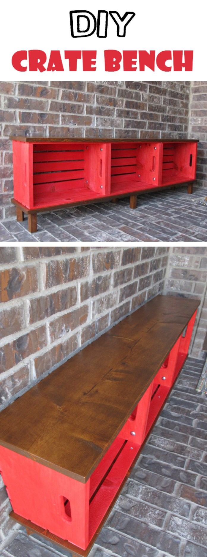 Functional Furniture Crate Bench Project