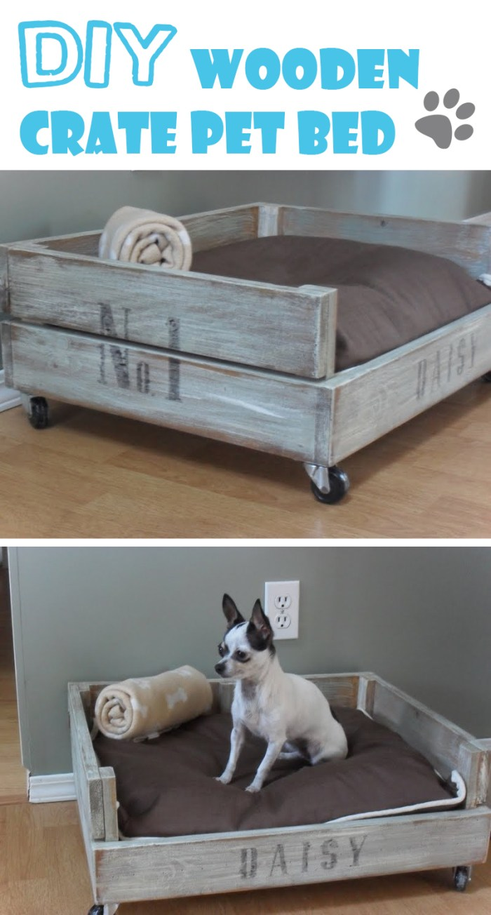Durable DIY Crate Pet Bed