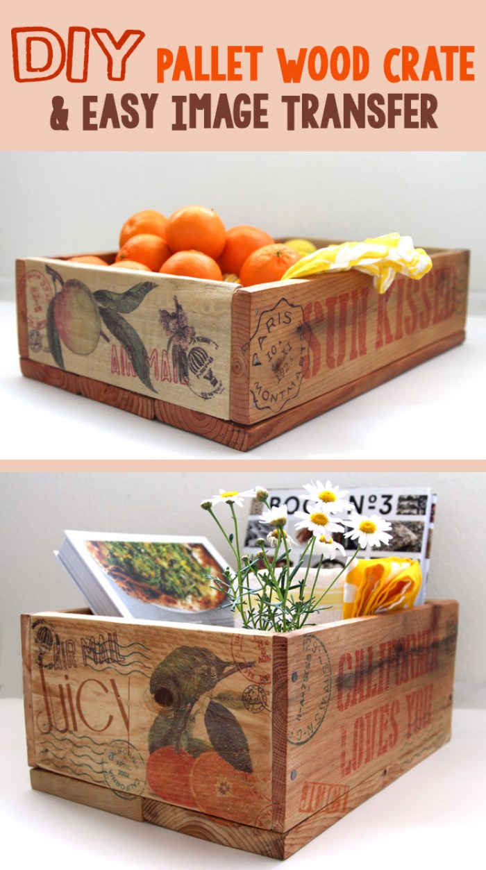 Tabletop DIY Wood Crate Projects