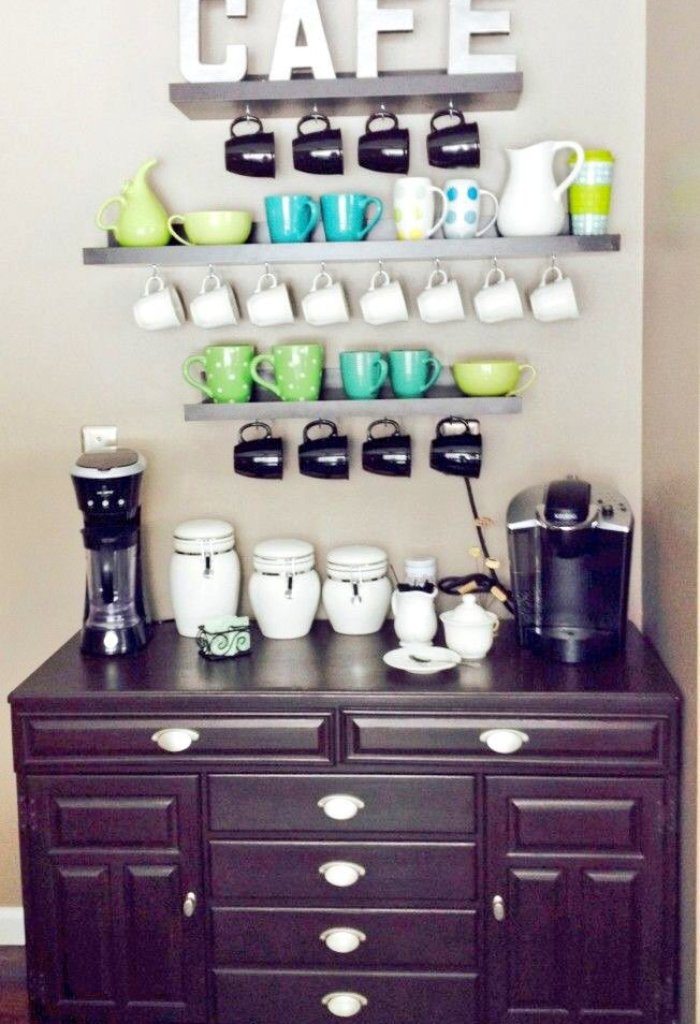 Color Coordinated Coffee Station
