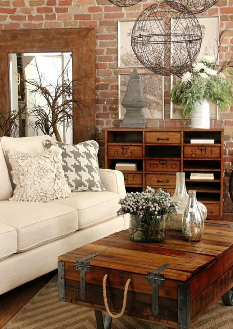 27 Best Rustic Chic Living Room Ideas And Designs For 2019
