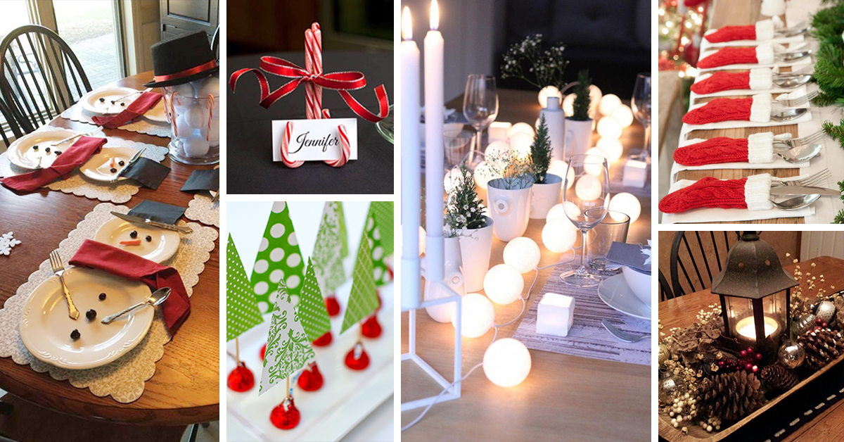 50 Best DIY Christmas Table Decoration Ideas For 2019