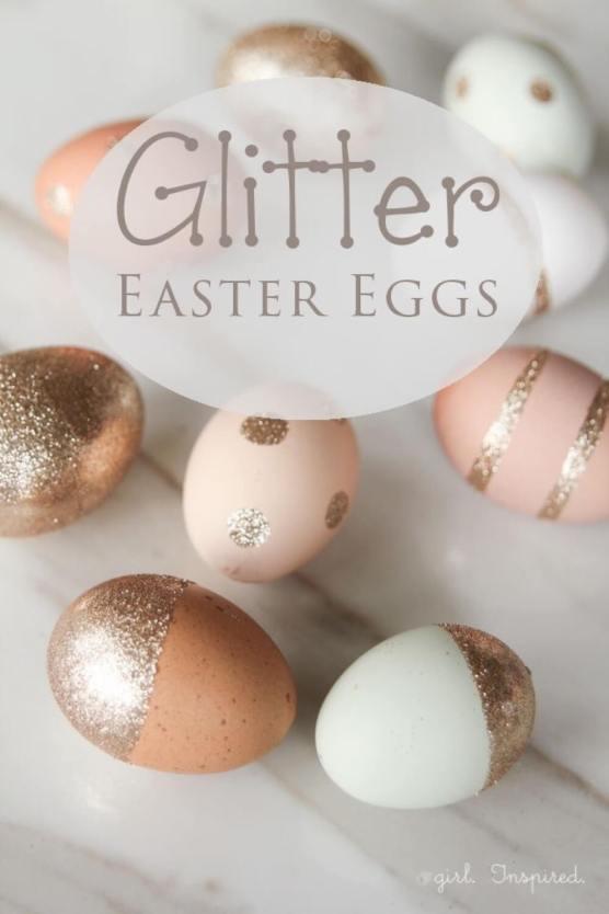 Easy DIY Glitter Easter Eggs