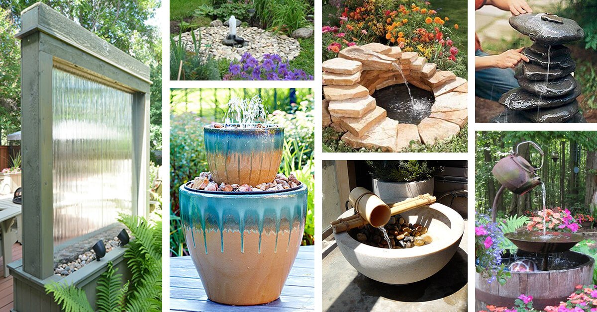 24 Best Diy Water Feature Ideas And Designs For 2019