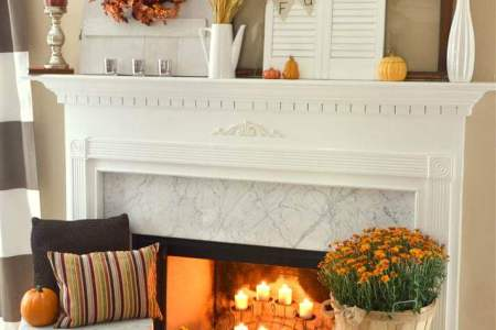 29 Best Farmhouse Fall Decorating Ideas and Designs for 2018 Fall Means Warm Fireside Hues