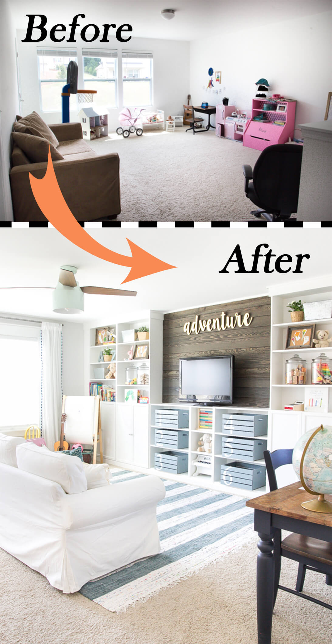26 Best Budget Friendly Living Room Makeover Ideas for 2018 A Modern Family Living Room Makeover