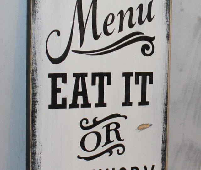 Cheeky Todays Menu Kitchen Wall Art