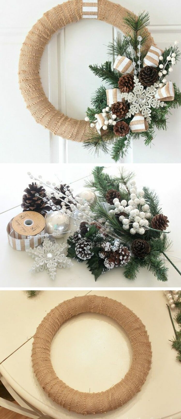 36 Best Christmas Wreath Ideas and Designs for 2018 Easy Wrapped Christmas Wreath Ideas