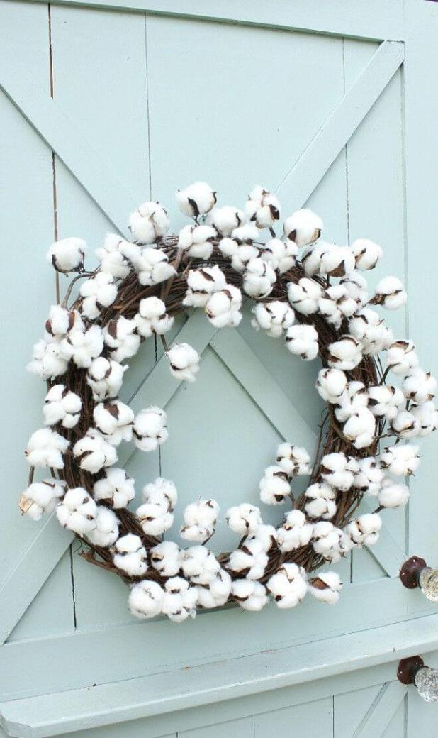 All Seasons Raw Cotton Door Ornament