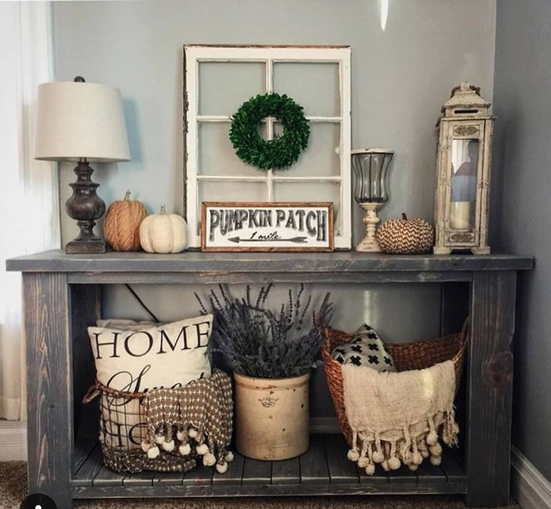 35  Best Rustic Home Decor Ideas and Designs for 2018 32  Pumpkin Patch Perfect Corner Display