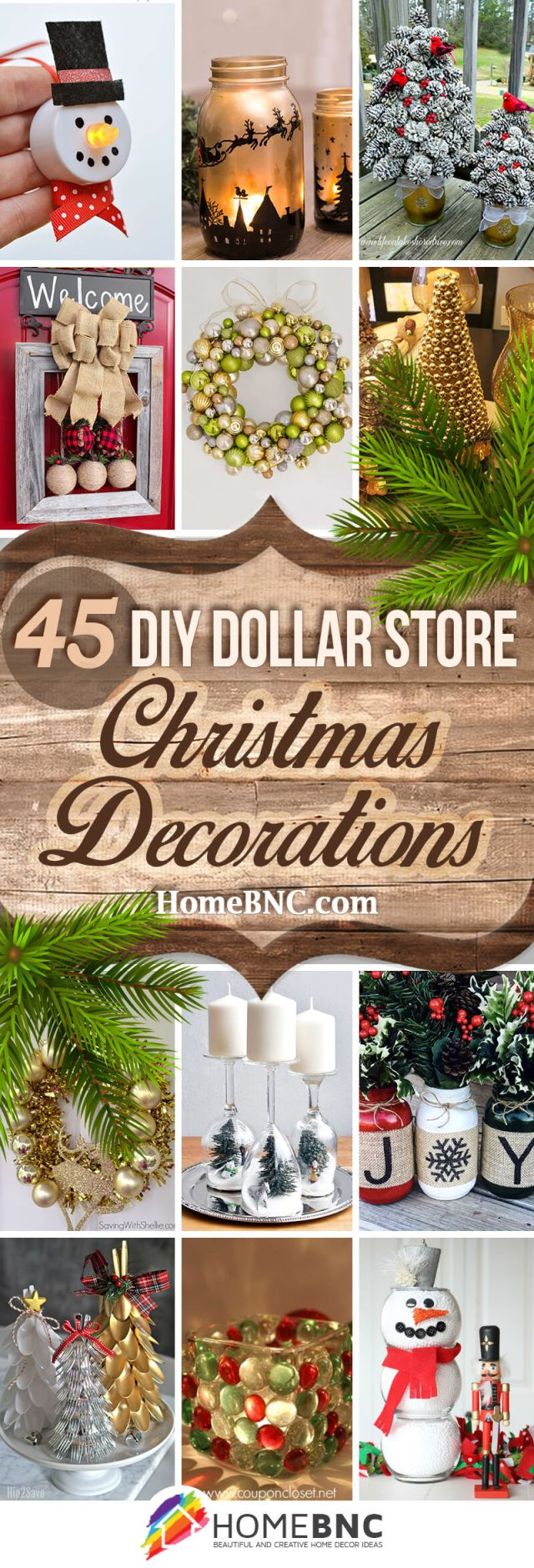 diy dollar store christmas decor crafts ideas pinterest share homebnc