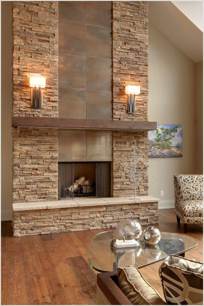 33 Best Interior Stone Wall Ideas and Designs for 2018 Mixed Stone  Metal and Wood