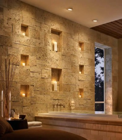 33 Best Interior Stone Wall Ideas and Designs for 2018 26  Egyptian Revival Sophistication with Stone Insets