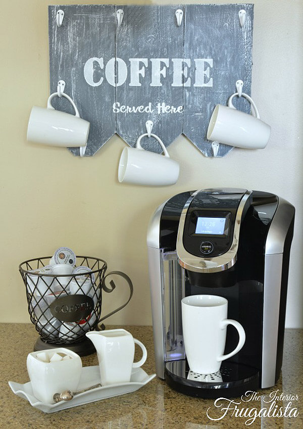 26 Best DIY Coffee Mug Holder Ideas And Projects For 2019