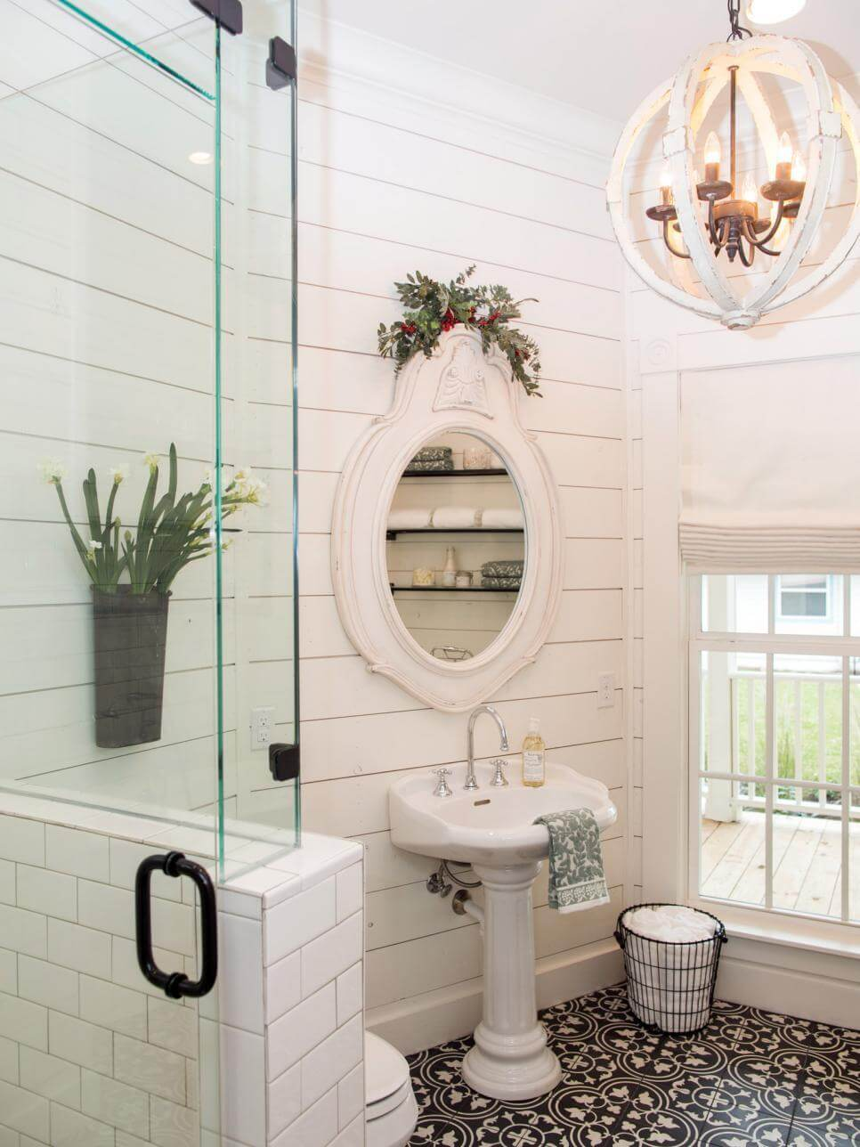 oval mirror with pedestal sink homebnc