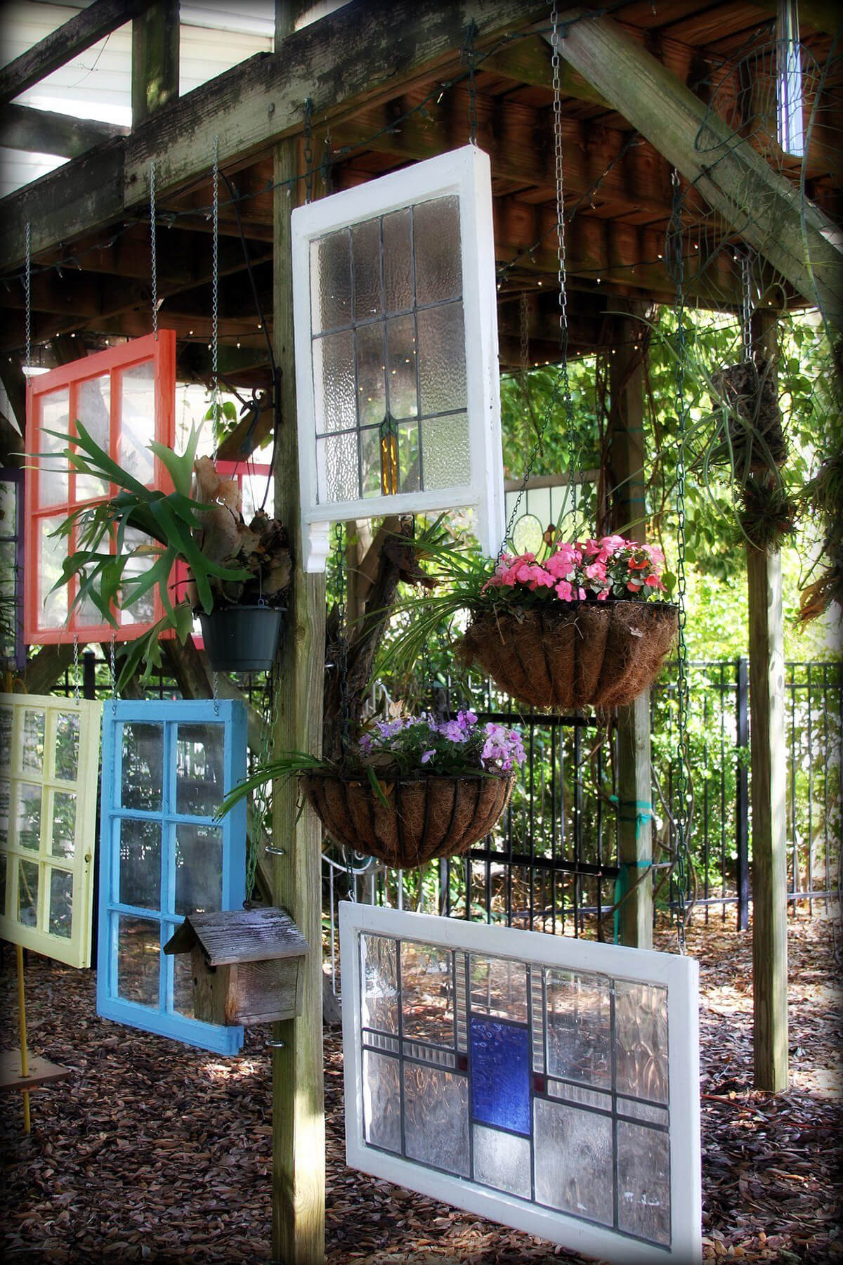 32 Best Old Window Outdoor Decor Ideas And Designs For 2019