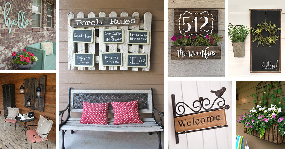 34 Best Porch Wall Decor Ideas And Designs For 2020