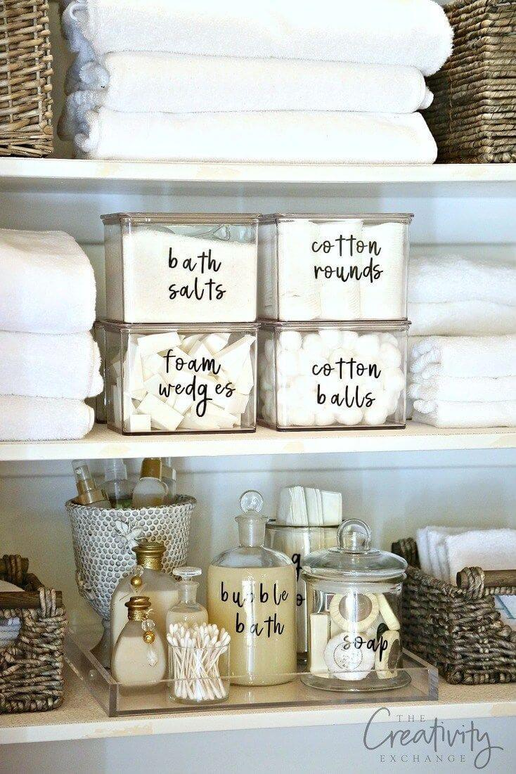 Spa-Style Glass Toiletry Holders