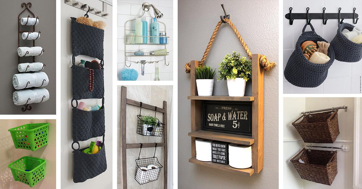 45 best hanging bathroom storage ideas