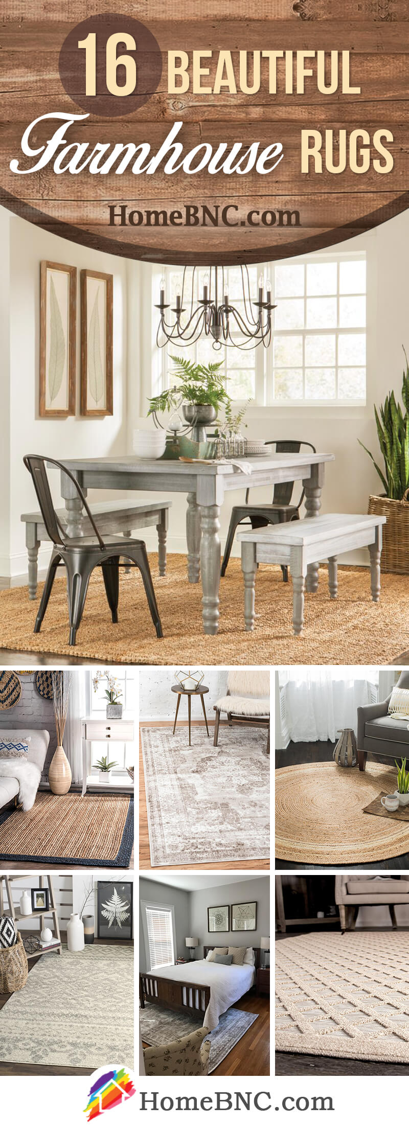 16 Best Farmhouse Rug Ideas And Designs For 2020