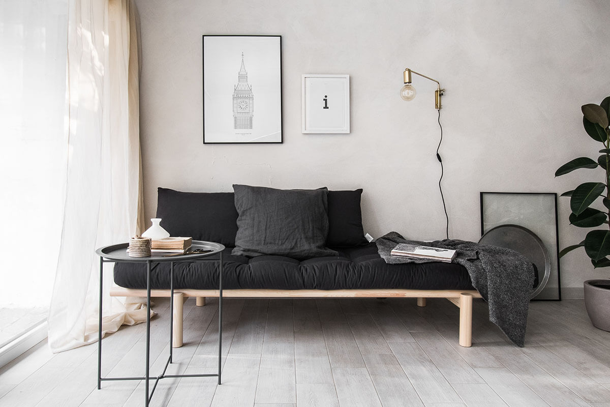 Industrial Minimalist Living Room Bedroom Combo Homebnc