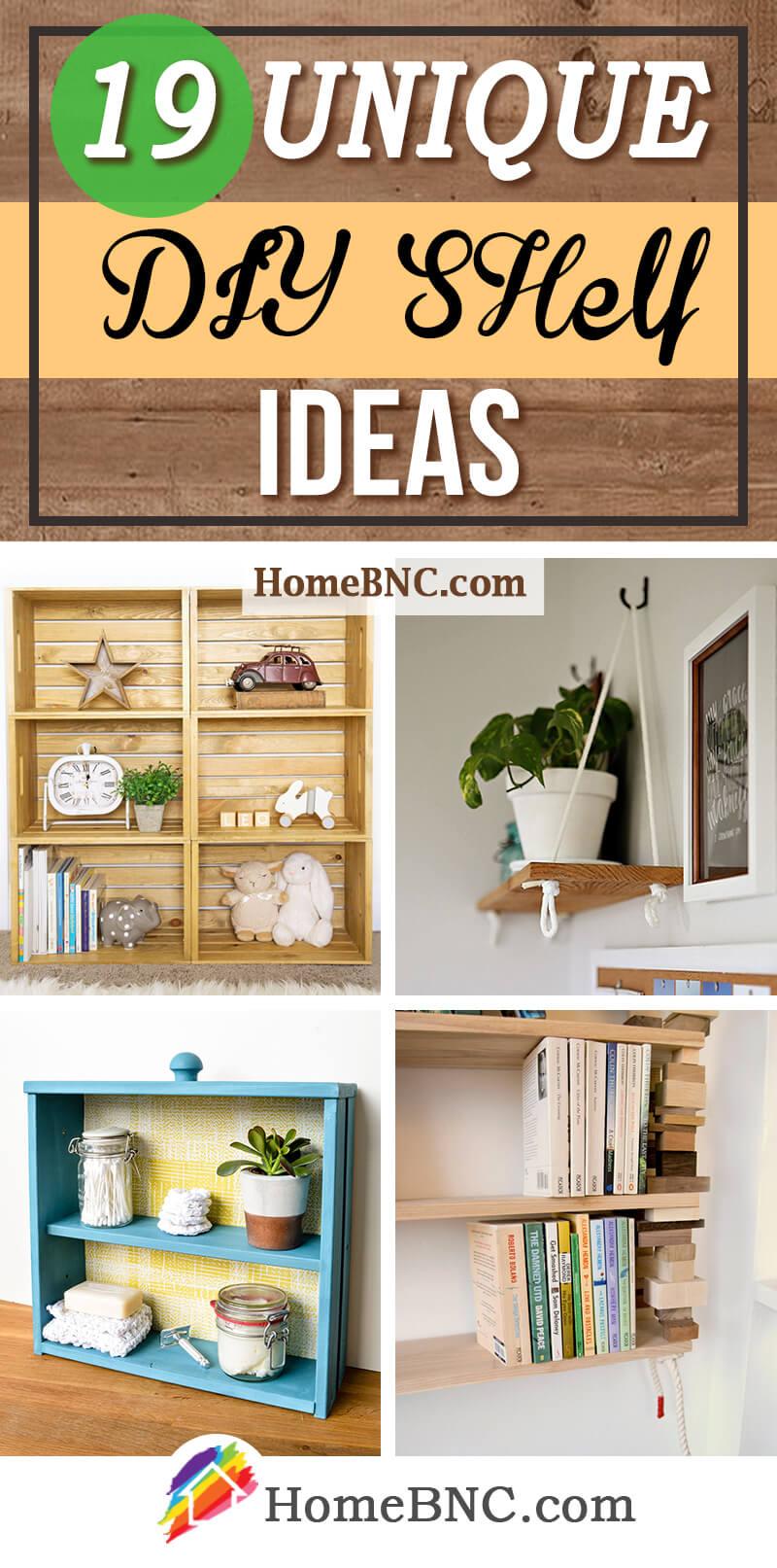 19 best unique diy shelf ideas and